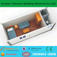 Hot sales low cost portable 20 feet flat pack container house
