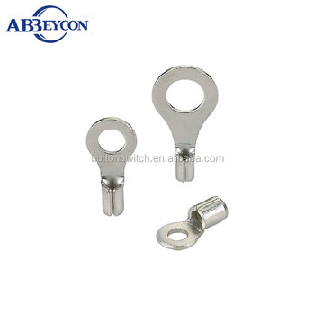T6-Non-insulated naked circular terminals ring naked terminal RNB Copper Naked Terminals