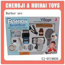 2014 new kids simulated plastic pretend barber beauty play set tools