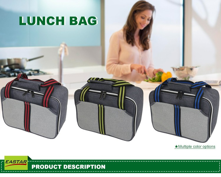 Insulated Thermal Cooler Lunch Thermos Bag Portable Travel Lunch Box Carry Tote