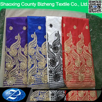 New design embroidery african sequin george wrapper for wedding dress