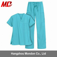 SMS nonwoven China medical scrub suit design medical clothing for hospital