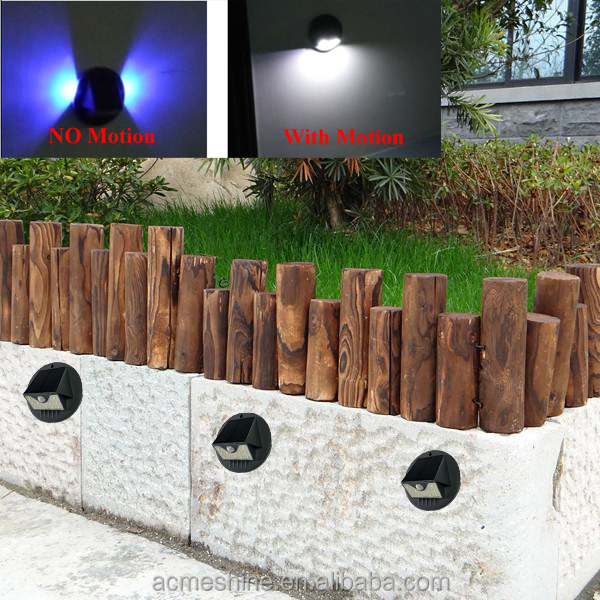 Fod-sports Black Copper Solar Power Light 11 LED Outdoor-Use Solar Smiling Wall Lights Lamp