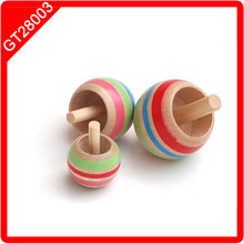 wooden mini spinning top
