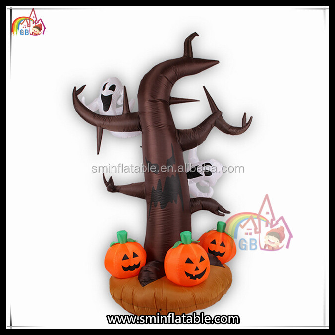 New Inflatable Halloween Pumpkins Ghost Tree Decoration On Sale