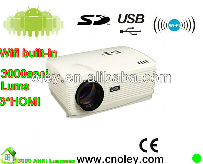 1080P 3D LED Projector highest native resolution1280*800 5.8 inches LCD Panel 3*HDMI+2*USB+AV+VGA+YPbPr