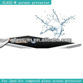 TABLET PC accessories!!tempered glass screen protector for ipad Air(factory supply)