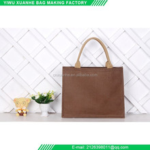 Plain Style Eco Friendly Natural Tote Linen Shopping Bag