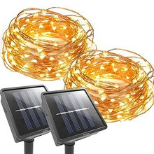 Hot selling outdoor christmas copper wire fairy solar led light chain