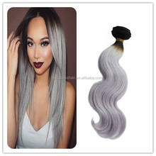 new color ombre high quality 100% indian remy hair weft body wave with long hair