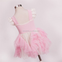 2016 tulle pink lace girl flower fancy dress competition