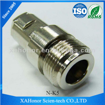 Brass nickel plated Female N Type RF Connector for RG58
