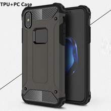 Factory Price Anti-shock PC TPU Armor Back Cover Case For iPhone X 8 7 6 6S 5 5S SE Plus