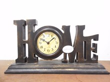 MDF wood hot sale home decor customized table clock