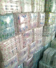 low price disposable baby diaper grade b baby diapers in stocklots