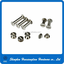 stainless steel nickel brass gold silver chicago screw/post book picture binding screw
