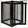 Black wooden pet safety gate /gates for dogsHomex-BSCI