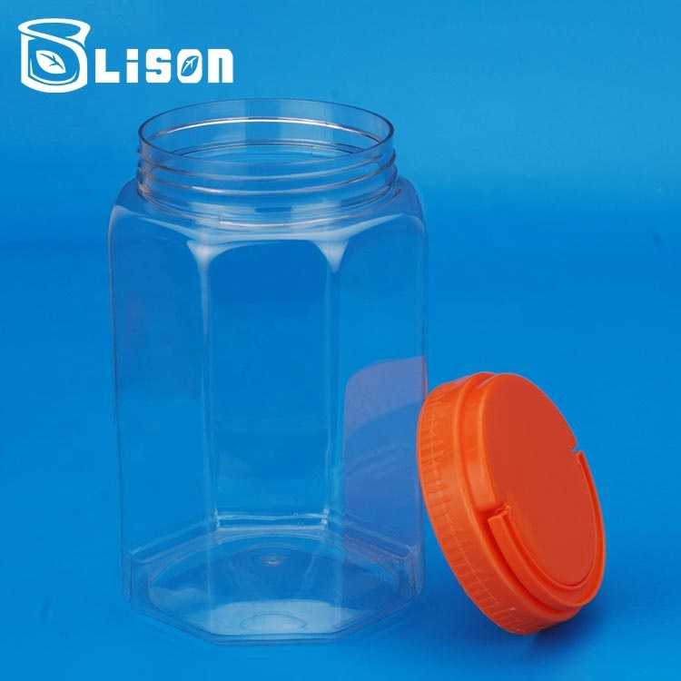 Free Sample Food Grade Plastic 1400ml Coffee Storage Container Jar Bottle With Screw Cap