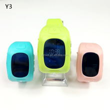 Hot y3 guangzhou wholesale sos ce rohs kids smart gps watch phone
