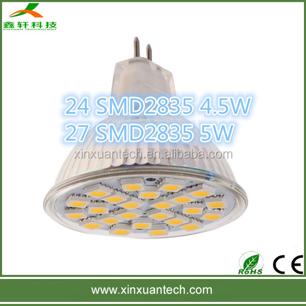 Cheap dimmable 2835 gu10 smd led spot light 3000k