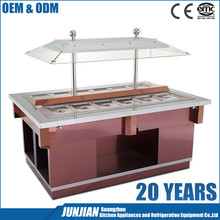 Buffet Marble Salad Display Refrigerator / Refrigerated Saladette Counter / Open Showcase Refrigerator