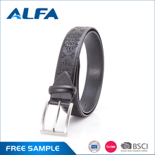 Alfa Custom Design Removable Buckles Leather Belts With Plastic Buckles