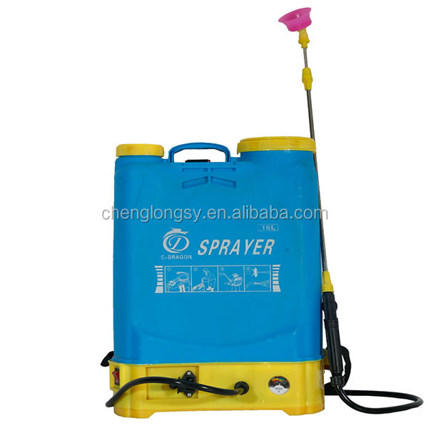16L Agriculture Knapsack portable Battery Electric Power manual operated hand sprayer