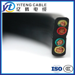 Flat rubber sheathed power cable China Yiteng cable