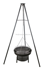 Barbeque Outdoor Grill Tripod Hanging Charcoal BBQ