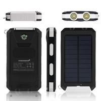 Carabiner Design 10000mAh 5V 1A Waterproof Solar Charger for Asus Phone