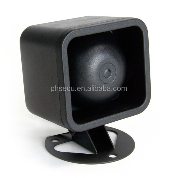 Black Loud Universal Car Security Alarm 12V Siren Horn