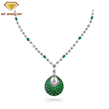 costume jewelry top quality cz necklace for girls