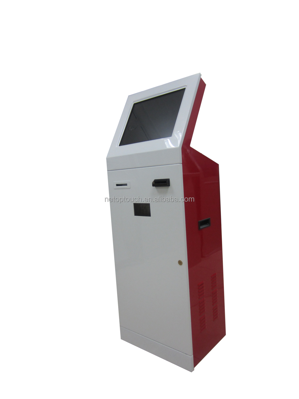 information scan barcode kiosk with touch screen