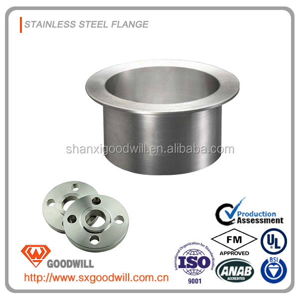 stainless steel stub end flange in pipe fitting