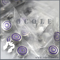 Triple Loops Purple Lines Customized Round Button Cover