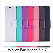 Wallet Card Holder PU Leather Flip Case Cover Skin fundas carcasas for iphone 4 / 4s / 5 / 5s /5c/ 6 / 6 Plus