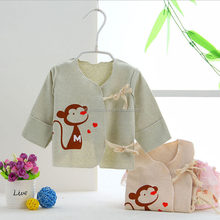 Wholesale Fashionable comfortable touch plain monkey printed baby clothes