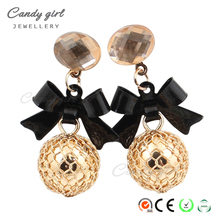 Candygirl brand wholesale earring women fashion bow-knot earring jewelry