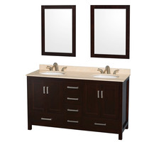 Spanish furniture white double bathroom cabinet