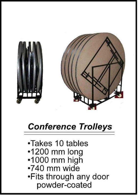 Trolley for round banqueting tables ( takes 10 tables)