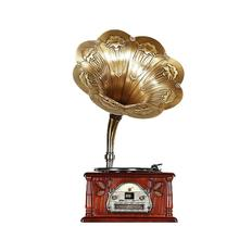 2017 low price wooden old gramophone radio record player