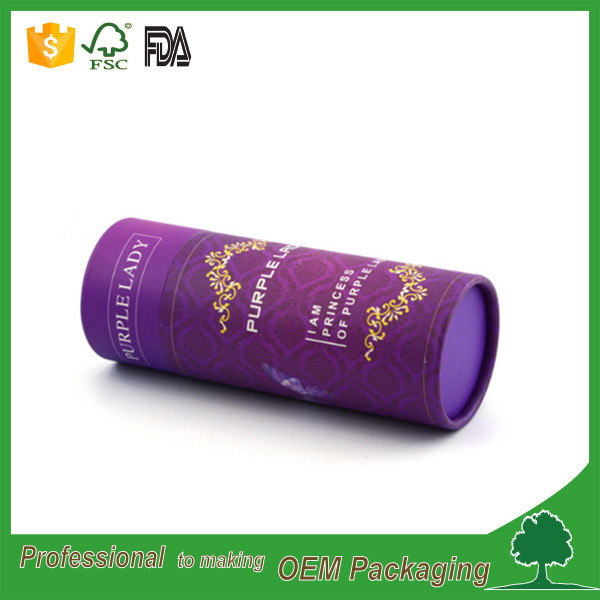 Luxury package high quality custom recycled cardboard boxes round cosmetic packaging box