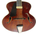 16in handmade and solid wood mahogany wood electric jazz guitar