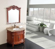2012 Hot Sell Antique Solid wood bathroom Vanity Cabinet