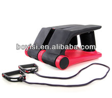 Black and red Mini fitness pneumatic exercise stepper