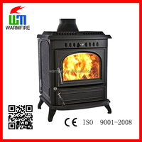 Model WM704B multi-fuel cast iron water jacket wood burning stove