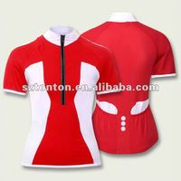 Unique cycling jersey red