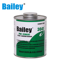 Bailey translucent upvc / pvc pipe glue / plastic solvent cement 3041 which is economy grade
