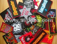 Rock, punk music embroidered patches iron / sew on