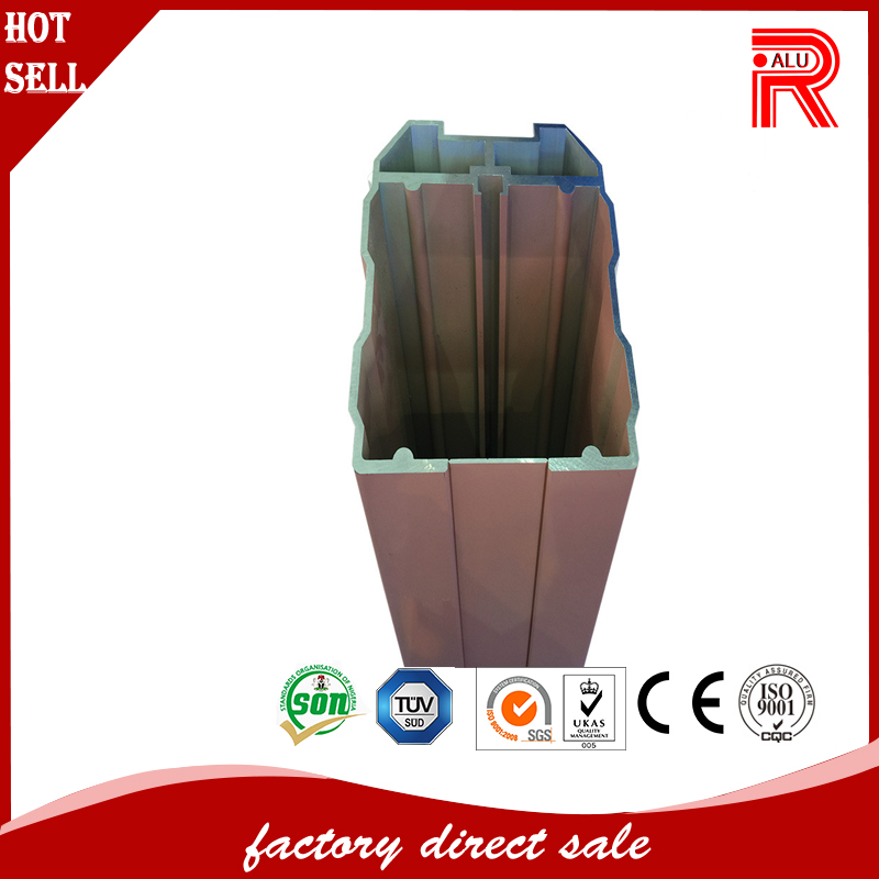 6005A aluminum extrusion profile for truck body and CRH train body frame